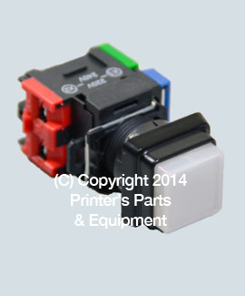 Push Button Switch White 220V-240V:250VAC 6A Complete with Base