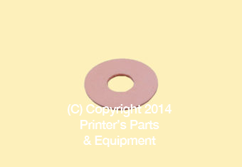Flat Rubber Disc 1 1/2 x 1/2 x 1/32 - 38.1 x 12.7 x 0.8mm
