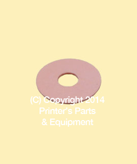 Flat Rubber Disc 1 1/4 x 1/2 x 1/32 - 31.8 x 12.7 x 0.8mm