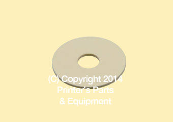 Flat Rubber Disc 1 1/8 x 5/16 x 1/16 - 28.6 x 7.9 x 1.6mm
