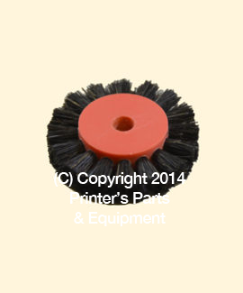 Feeder Brush Wheel 45mm x 6mm pin Hard
