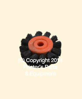 Feeder Brush Wheel 35mm x 6mm pin Hard