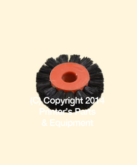 Feeder Brush Wheel 35mm x 8mm pin Hard