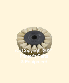 Feeder Brush Wheel 35mm x 8mm x 12mm Soft x 8mm pin (Soft) (HE-90505)