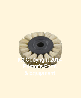 Feeder Brush Wheel 35mm x 6mm Soft 6mm pin (Soft) (HE-90506)