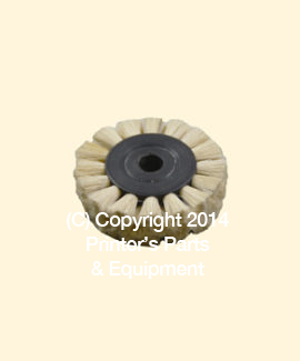 Feeder Brush Wheel 35mm x 5mm Soft x 5mm pin (Soft) (HE-90507)