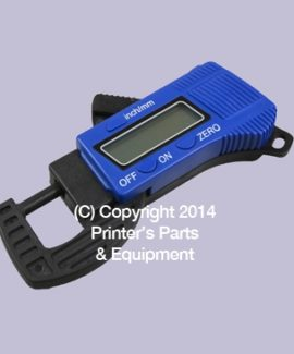 Digital Thickness Gauge (mm / inches) Plastic Body Blue