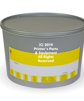 Yellow offset ink 2.5kg (5.5 lb) - Printing press supplier