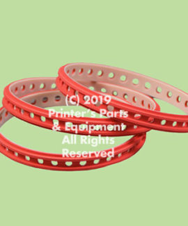 Slow down belt for Heidelberg XL 75, XL 105, XL 106, XL 145, XL162 (10x245mm)  Ref: HE-F4-614-891F